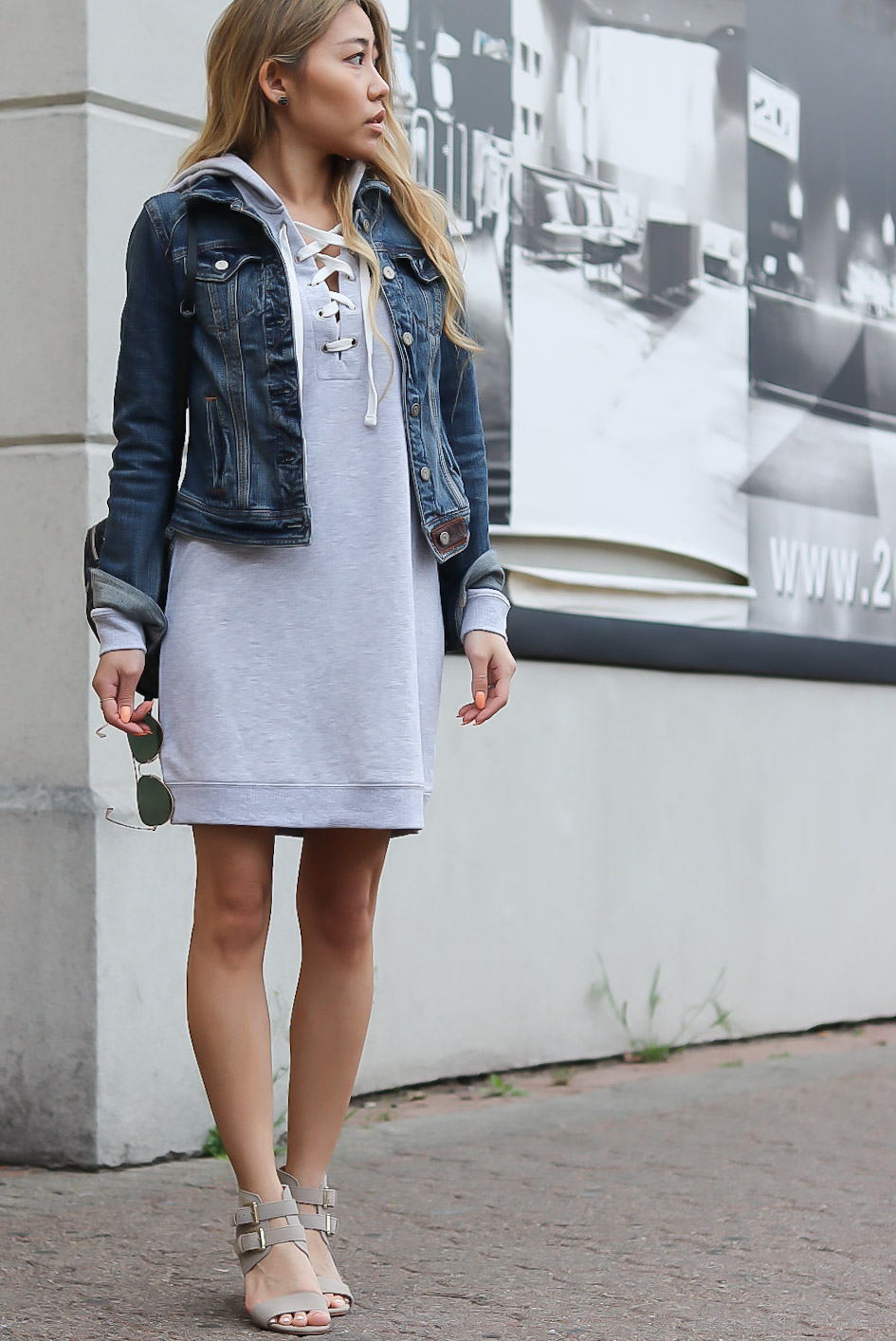 I love this hooded lace-up sweatshirt dress that I recently found. It is  extremely comfortable 7de8bbeaf7be