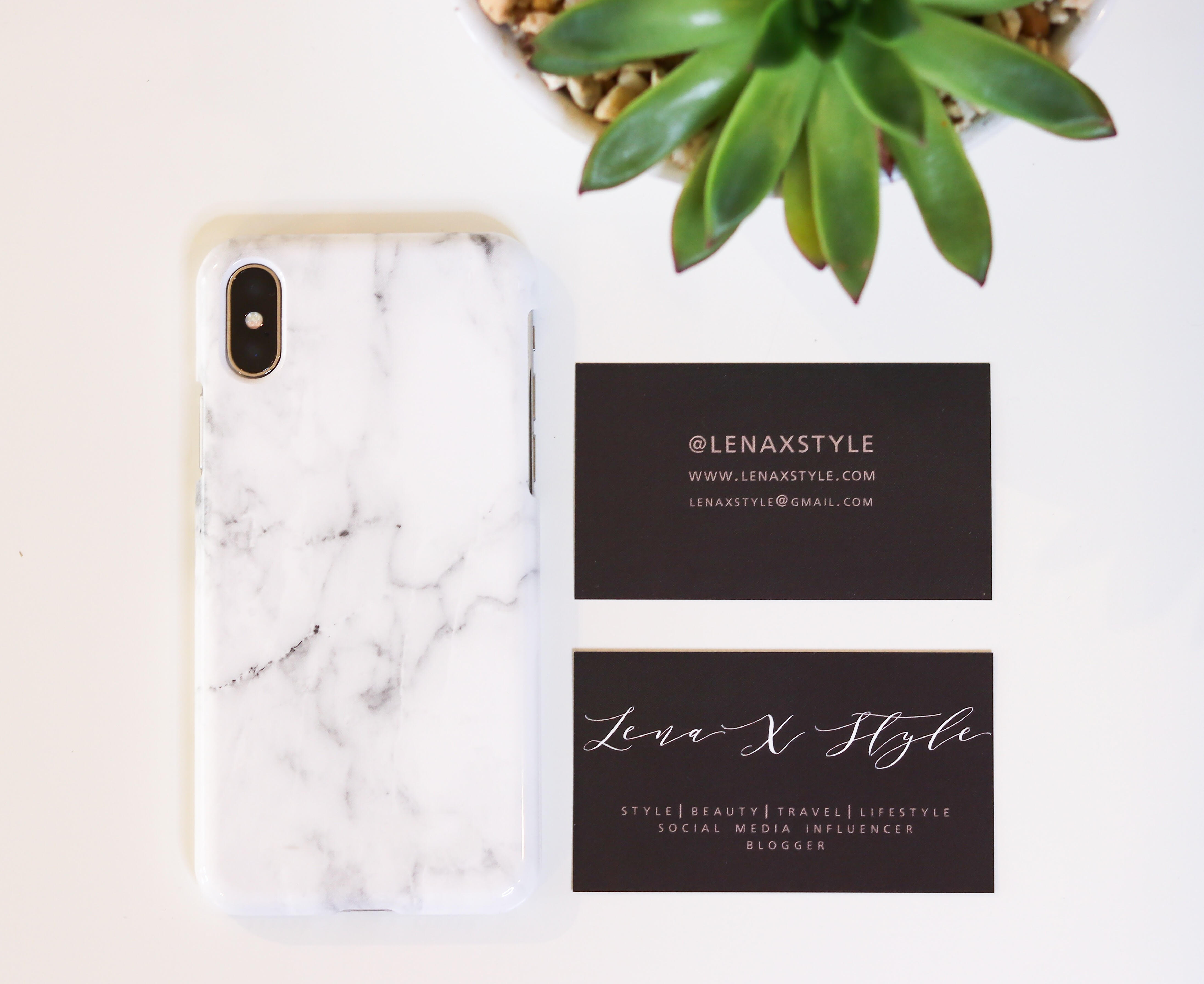 Blogger business cards basic invite review l e n a x s t y l e full time blogger and social media influencer most of the business exchanges are accomplished online and through e mails media kitrate cards are also colourmoves